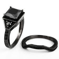 black cubic zirconia engagement rings princess cut black cubic zirconia black engagement ring wedding