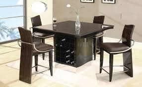 Ella Dining Room And Bar Appealing Modern Bar Table Design With White Varnished Wooden Bar