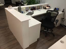 Commercial Reception Desk Quartz Reception Desk Mekkelek Custom Woodwork Cabinetry