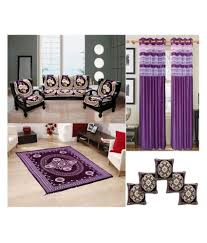 Snapdeal Home Decor Furnishing Kingdom Purple Velvet Sofa Cover Carpet Curtain And