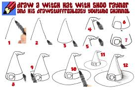 Halloween Drawings Easy Learn How To Draw A Witch U0027s Hat Shoo Rayner U2013 Author