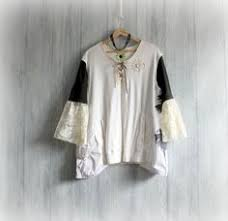 Shabby Chic Plus Size Clothing by Women Country Shirt Rustic Boho Top Shabby Chic Clothes Plus Size