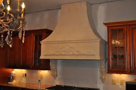 hand made custom stone kitchen range hood by stone stove kitchen