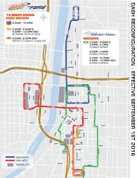 Map Of Grand Rapids Michigan by Dash And Silver Line Enhance Routes To Better Serve Customers