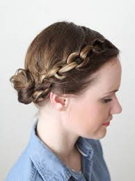 put your hair in a bun with braids 40 quick and easy updos for medium hair