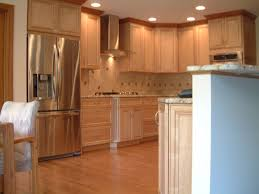 fabulous brown colors mahogany wood crown molding kitchen wall