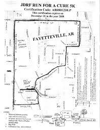 Fayetteville Ar Map 5k