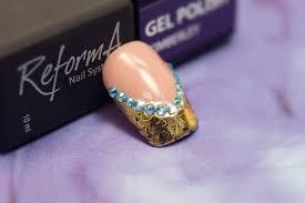 transfer foil nail art on gel polish utilisation des foils nail