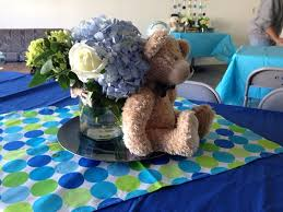 centerpieces teddy bears and bow tie baby shower theme