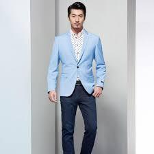 light blue jacket mens click to buy men blazer light blue wedding groomsmen leisure