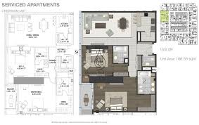 entisar tower 2 bedroom apartment unit 10 floor plan