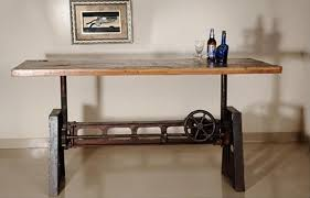 Bringing In YOUR CHOICE Of Industrial And Steampunk Furniture From - Adjustable height kitchen table