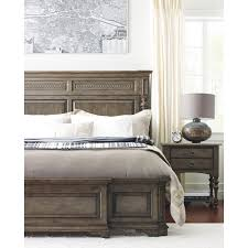 Kincaid Bedroom Furniture Logan King Sized Panel Bed With Turned Post Headboard By Kincaid