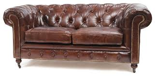 london vintage top grain leather chesterfield sofa traditional