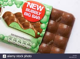 nestle mint aero new bubbly big bar of chocolate with contents