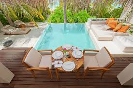 Swimming Pool Furniture by Villa Swimming Pool Design Ayada Maldives Resort Interior Design