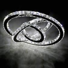 3 Pendant Light Fixture Uk by Ring Led Modern Crystal Chandelier Ceiling Pendant Lighting
