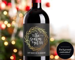 christmas wine christmas wine label custom wine christmas wine