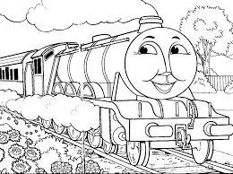 thomas the tank engine coloring pages in the train drawing