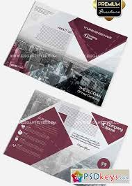 two fold brochure template psd business v2 premium bi fold psd brochure template free