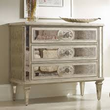 Glass Mirrored Bedroom Set Furniture 3 Drawers Mirrored Chest Of Drawers For Bedroom