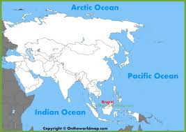 brunei map in world brunei location on the asia map