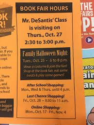 mr d u0027s blog planner 10 18 spelling words book fair date and math