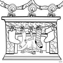 stocking doll gift coloring pages hellokids