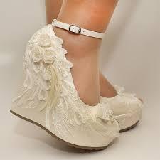 wedding wedges shoes wedding wedding shoes bridal shoes ivory wedding shoes