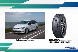 volkswagen ksa falken ziex ze914 ecorun to be oe on new volkswagen touran models
