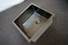 Square Kitchen Sink 450mm Square Gun Metal Gray Handmade Stainless Steel Sink