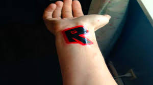 tattoo my logo i got the roblox logo tattooed on my arm youtube