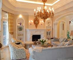 arch window treatments living room traditional with airy blue