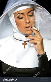 Nun Halloween Makeup by Nun Halloween Nun Smoking Stock Photo 156636266 Shutterstock