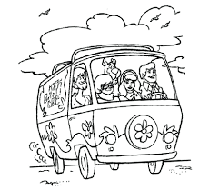 free printable scooby doo coloring sheets pages apple tree to