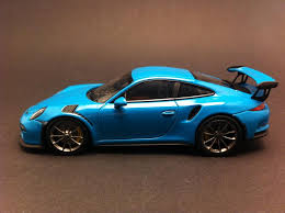 miami blue porsche porsche 991 gt3 rs 2016 miami blue 1 43 minichamps ca04316006