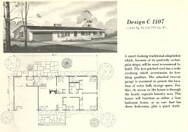 Mid Century Home Plans by Vintage House Plans 1107 Antique Alter Ego