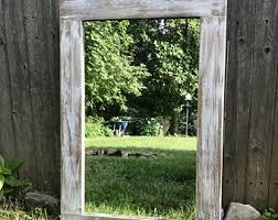 Rustic Vanity Mirrors For Bathroom - wood mirror etsy