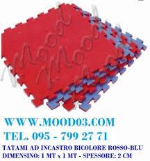 tappeti ad incastro tappeto ad incastro 100x100x2 cm in bicolore rosso