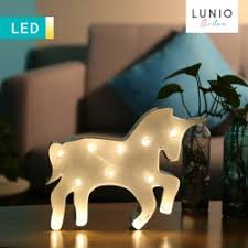 led 3d unicorn illusion lamp with wooden base