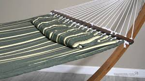 Hayneedle Hammocks Island Bay 13 Ft Seagrass Quilted Hammock With Wood Arc Stand