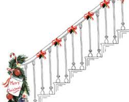 Christmas Railing Decorations Christmas Garland For Stairs Etsy