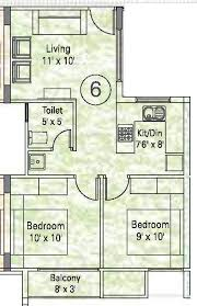 650 Square Feet Floor Plan 650 Sq Ft 2 Bhk 1t Apartment For Sale In Appaswamy Real Estates
