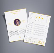 2 Page Resume Template Free Professional 2 Page Resume Design Cv Template Ai File
