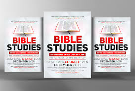 Bible Study Invitation Cards Bible Study Flyer Template Flyer Templates Creative Market