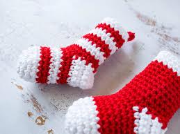 crochet mini stockings christmas ornament sewrella