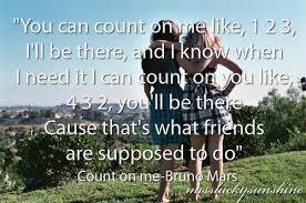 Lyrics To Count On Me Bruno Mars Lyrics Best Bruno Mars Count Image 522233 On Favim Com