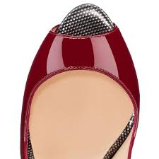 chaussure louboutin pas cher pome lady peep sling 150mm rouge