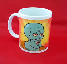 Spongebob Squarepants Meme - handsome squidward spongebob squarepants meme inspired coffee tea