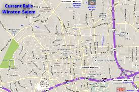 A Train Map Local Rails Then And Now U2026 North Carolina Room Forsyth County